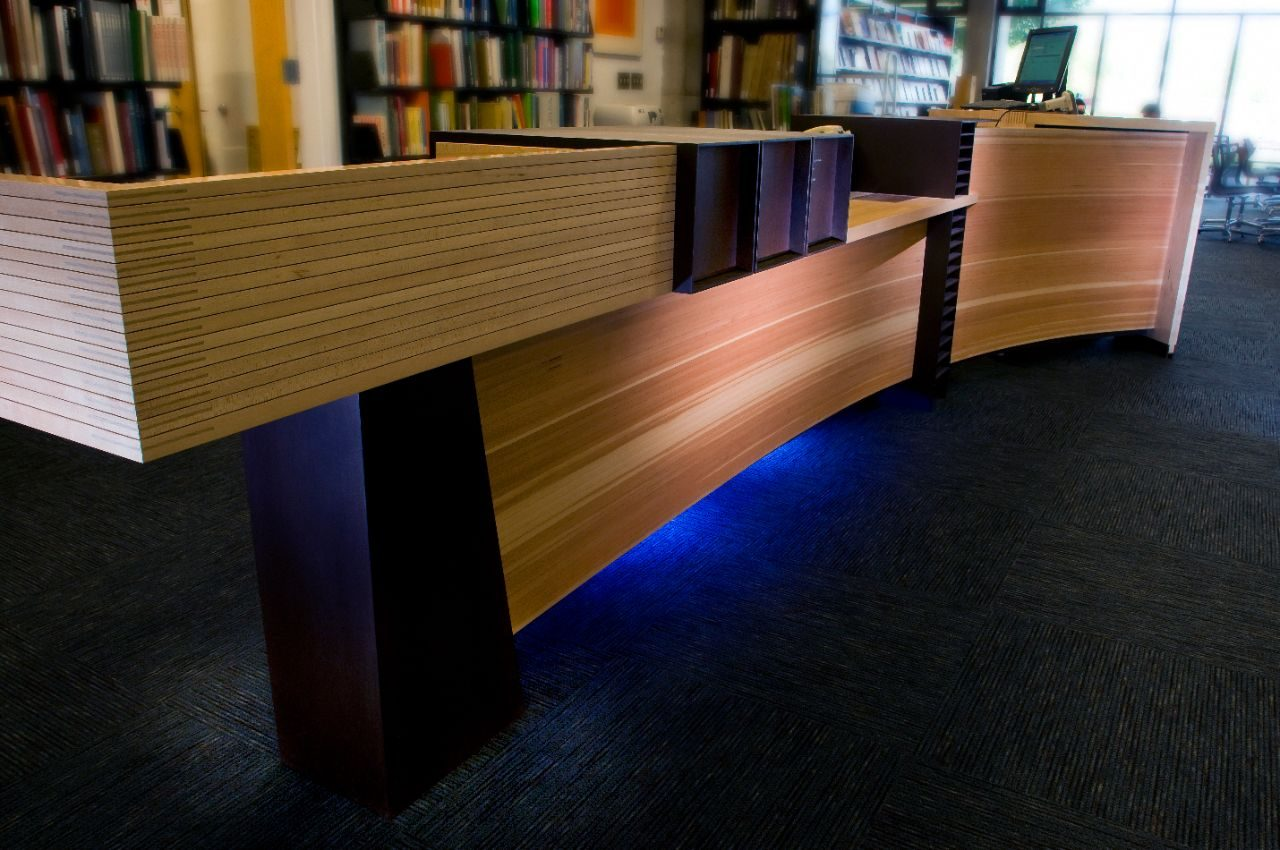 Circulation desk at Art & Architecture Library